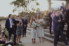 photograph of sunsetting over guests at wedding on south coast nsw