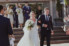 photograph of bride and groom walking back up the aisle after getting married