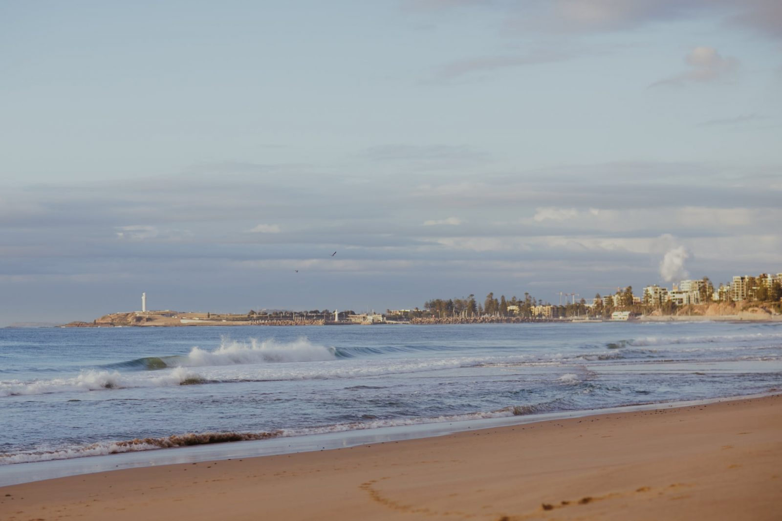 Photograph of the view of Wollongong and Port Kembla from Fairy Meadow on the South Coast of NSW