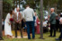 Photograph of bride and groom during wedding ceremony at Worrowing at Jervis Bay on the South Coast of NSW
