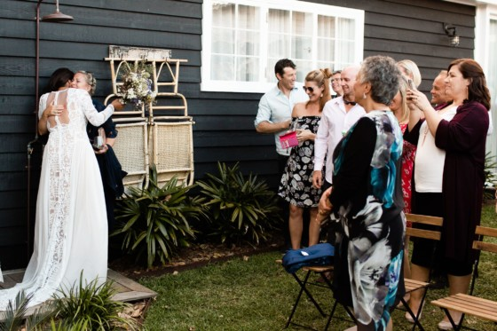 celebration after the wedding ceremony at soul of gerringong