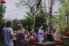 photograph of guests at rehearsal dinner at Balian Bali wedding in Indonesia