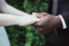 photograph of bride and groom holding hands after ceremony in Wollongong Botanic Gardens NSW