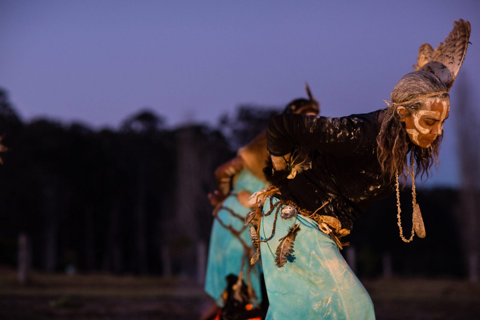photograph of dancers at the 2018 Firesticks Workshop at Bundanon Trust in NSW